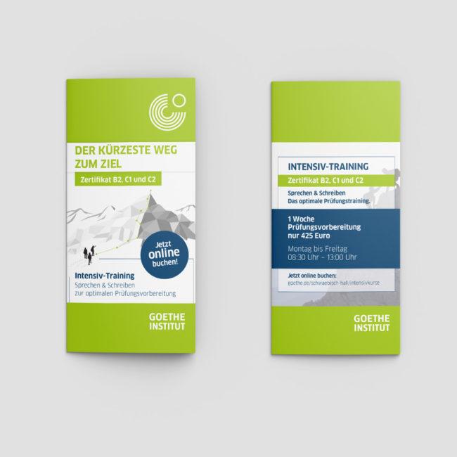 Grafik Design - Goethe Institut Schwäbisch Hall - Design Flyer PRINT DESIGN publikwerk
