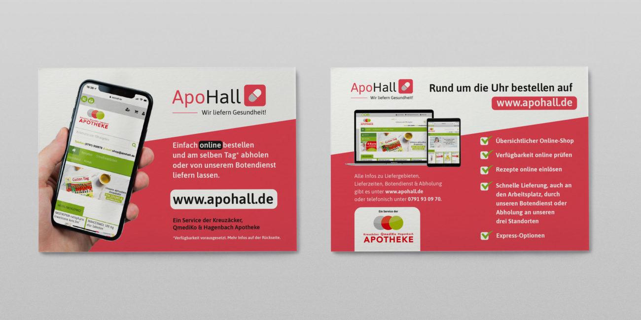 Graphik Design - Graphic Design - Flyer Apohall - Gestaltung von publikWERk in Schwäbisch Hall PRINT DESIGN publikwerk