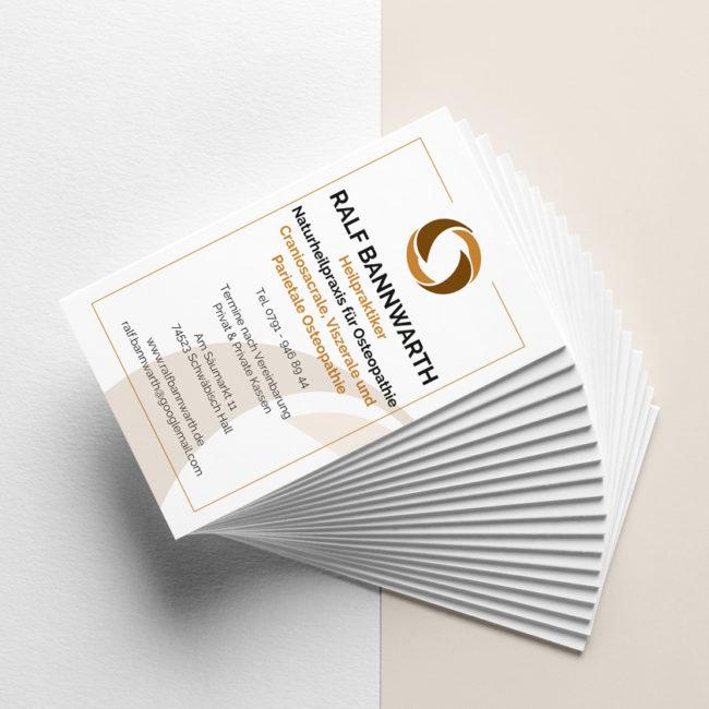 Graphik Design - Graphic Design - Visitenkarten Ralf Bannwarth - Gestaltung von publikWERk in Schwäbisch Hall PRINT DESIGN publikwerk