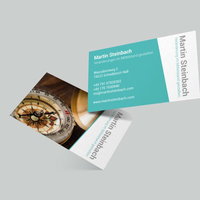 Grafik Design - Visitenkarte Martin Steinbach Schwäbisch Hall PRINT DESIGN publikwerk